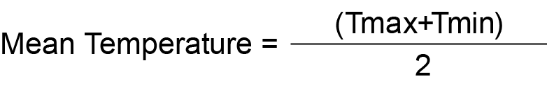 Mean Temperature Formula